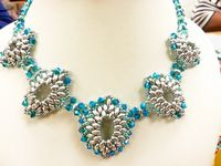 Renaissance Beadwork SuperDuo Necklace Jewellery Making Kit SWAROVSKI® ELEMENTS Silver & Blue Zircon